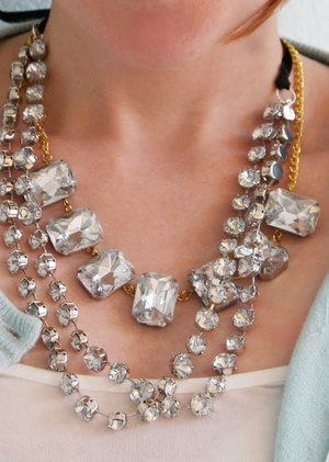 Chunky Rhinestone Necklaces