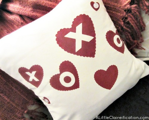 Simple Valentine Pillow Covers