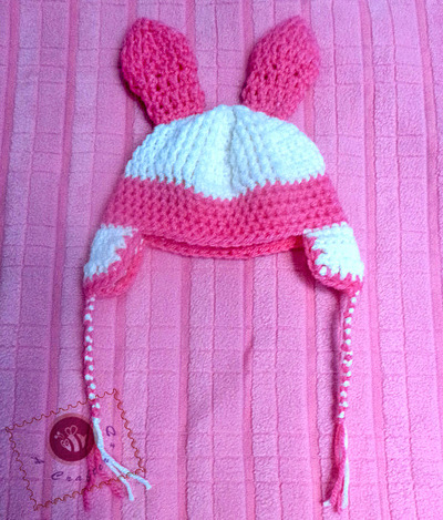 Cotton Candy Bunny Hat and Toy