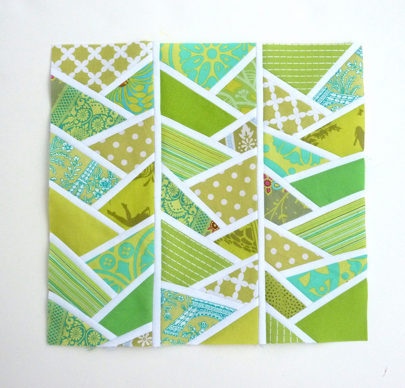 Quilting Designs For Blocks : Wonky Herringbone Quilt Block FaveQuilts.com