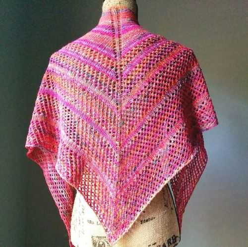 Hawaiian Sunset Lace Shawl