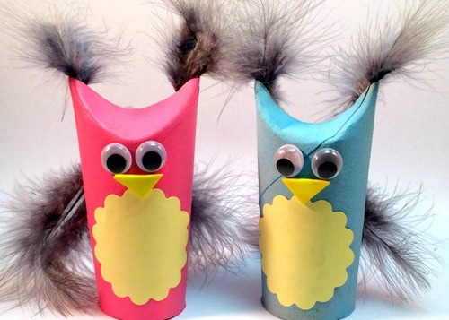 Too Cute Toilet Paper Roll Owls