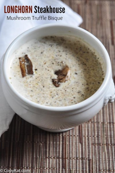 onghorn Steakhouse Mushroom Truffle Bisque Copycat