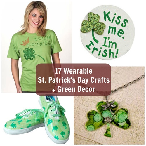 17 Wearable St. Patrick's Day Crafts + Green Decor