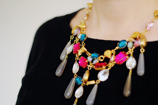 Gorgeous Gemstone Statement Necklace