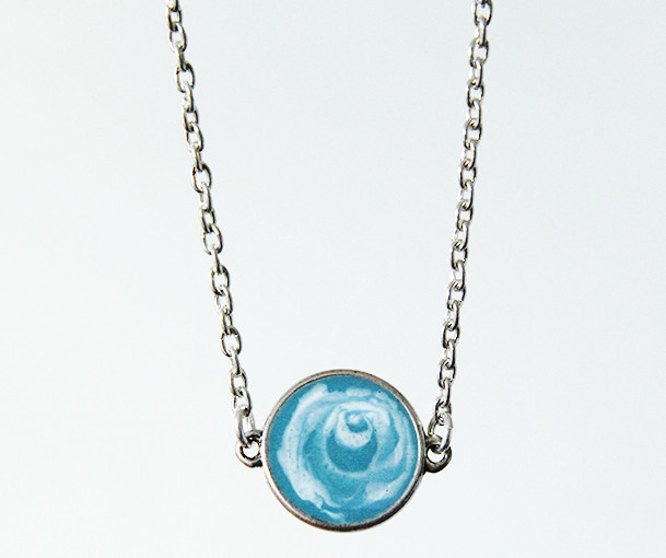 Amazingly Beautiful Faux Agate Pendant