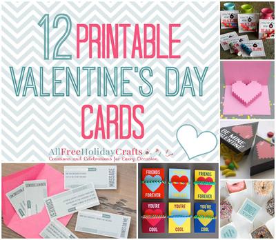 12 Printable Valentine's Day Cards
