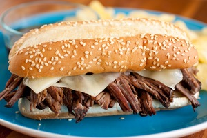 5-Minute Slow Cooker French Dip Sandwich