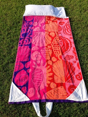 Fold Up Beach Towel Bag Free Sewing Pattern