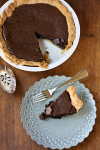 Chocolate Lover's Chess Pie