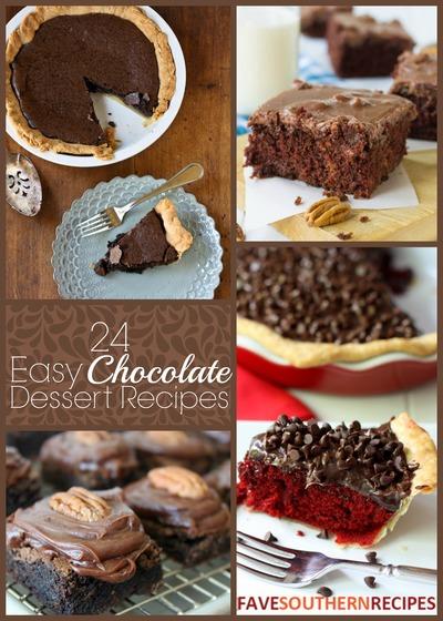 24 Easy Chocolate Dessert Recipes