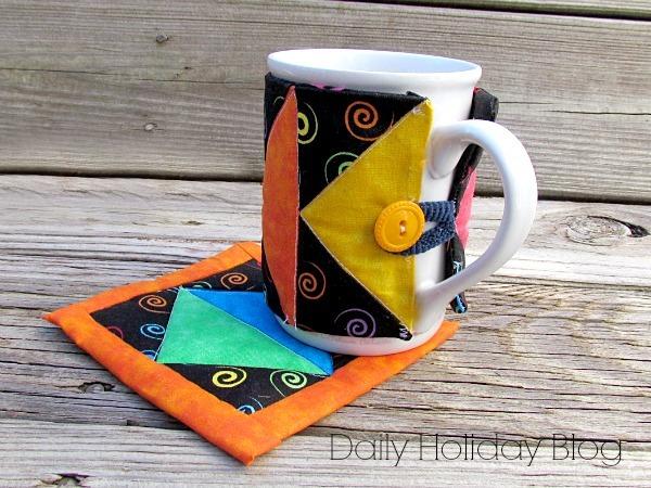 Art Deco Mug Rug Pattern And Sleeve Allfreesewing Com
