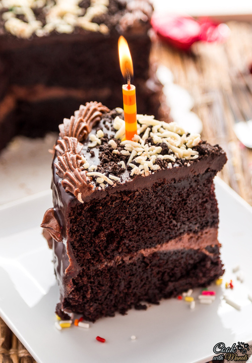 Triple Chocolate Layer Cake