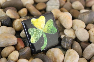 Shiny Shamrock Clay Pin