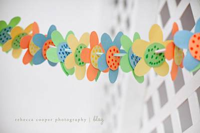 Springy Flower Garland