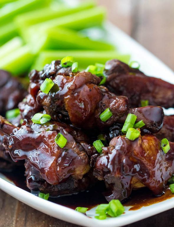 Slow Cooker Honey Garlic Chicken Wings