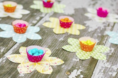Cupcake Liner Flower Crafts
