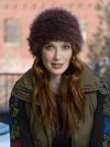 simple fuzzy knit hat