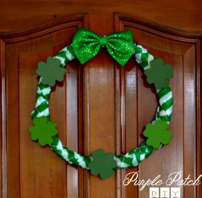 Dollar Store St Patricks Day Wreath