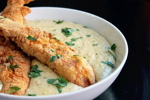Southern Fried Fish and Grits