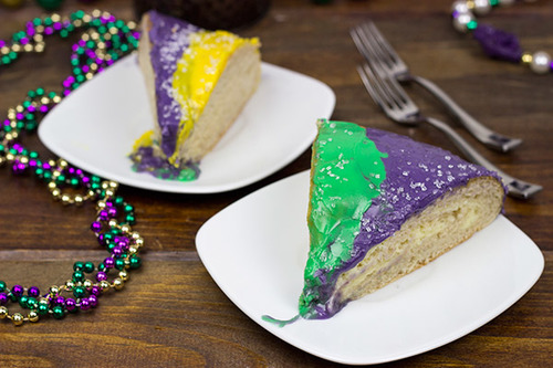 Mardi Gras Cream Cheese King Cake