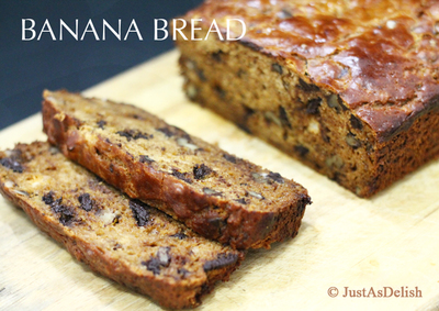 Banana Bread with Dark Chocolate Chunks