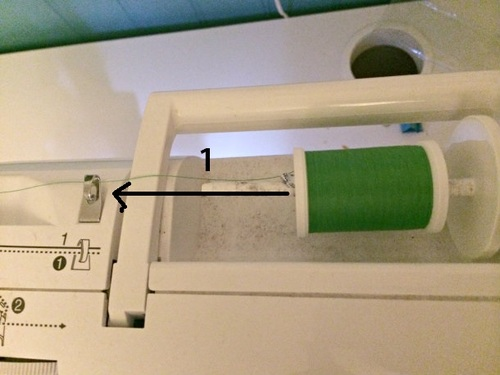 how to thread the sewing machine