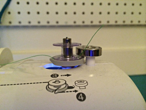 Threading a Sewing Machine: Filling the Bobbin