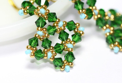 Enviable Green Crystal Earrings