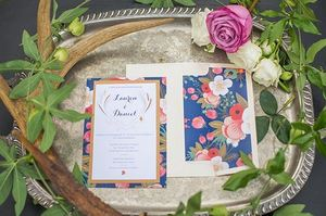 Gorgeous Bordered DIY Invitations