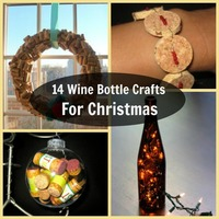 14 Wine Bottle Crafts for Christmas