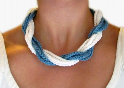 Chunky Twist Torsade Necklace