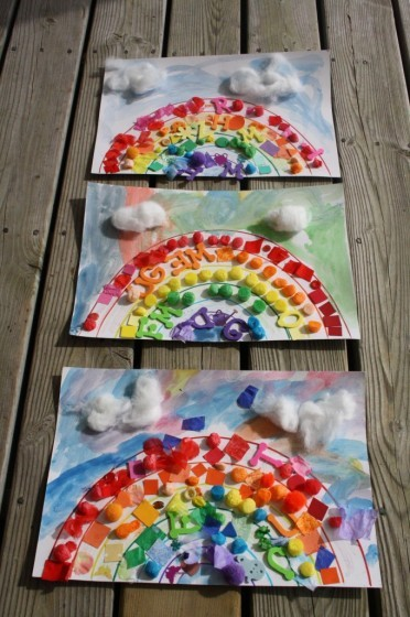 Rainbow Art Collages