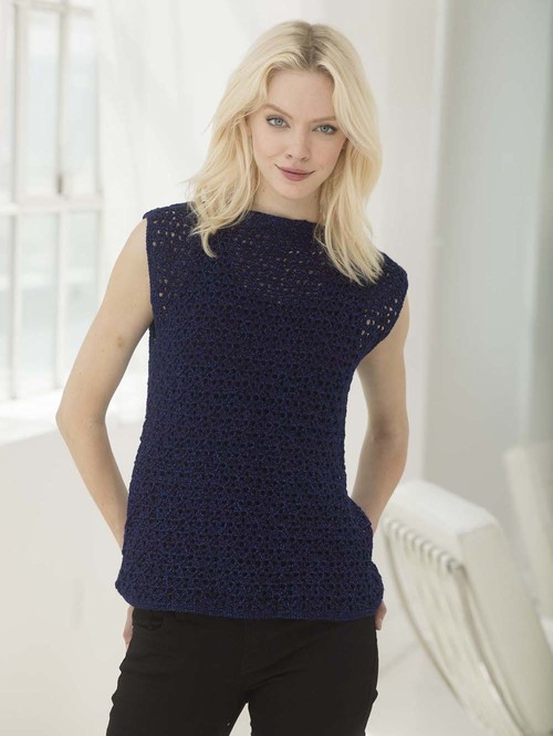 Lion Brand Yarn 861-109 Vanna/'s Glamour Yarn Pack of 3 skeins Sapphire