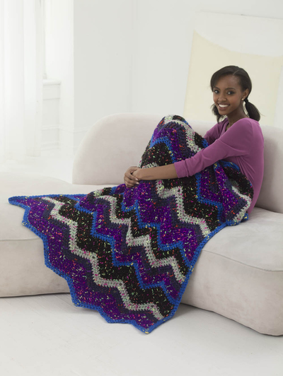 cosmic crochet throw