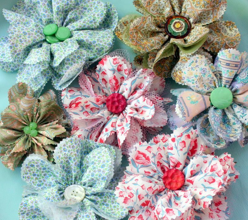 Fabric Flower Wedding Bouquet Tutorial: Totally Tulle DIY Fabric Flowers