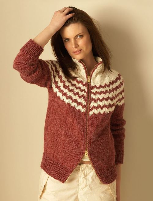 Free Knitting Patterns Alpaca Sweaters : Maroon Vintage Alpaca Cardigan AllFreeKnitting.com