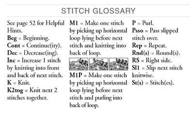 Bernat Stitch Glossary