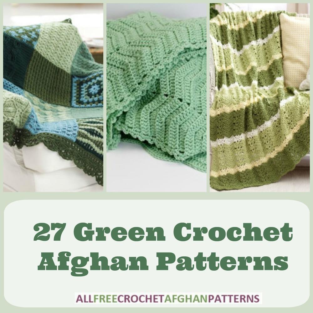 27 Green Crochet Afghan Patterns