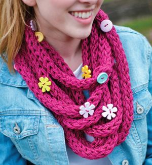 Button Love Scarf
