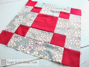 Bold and Beautiful Irish Chain Quilt Block