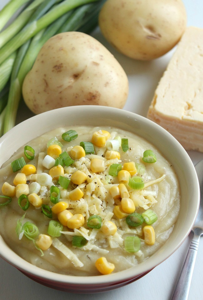 Slow Cooker Loaded Baked Potato Soup   FaveHealthyRecipes.com