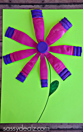 Vibrant Water Bottle Flower Crafts