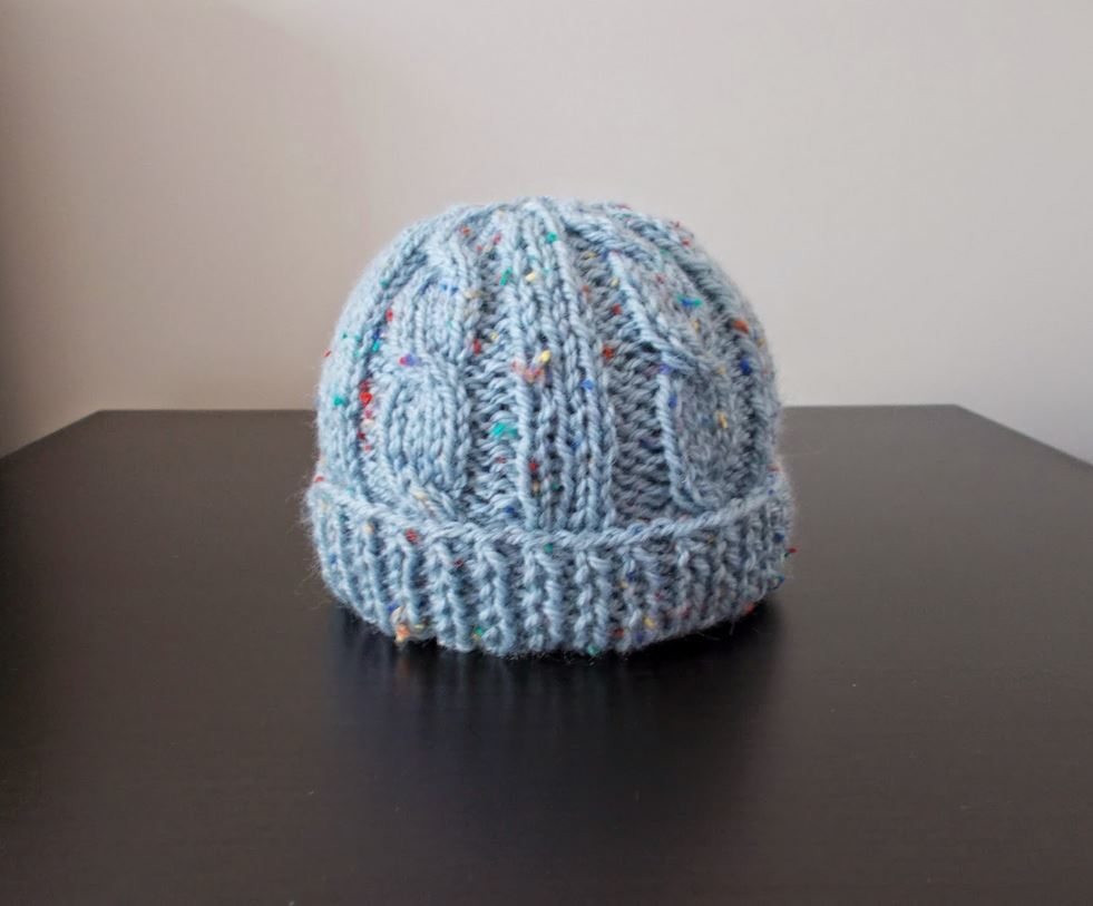 Birthday Cake Knit Baby Hat | AllFreeKnitting.com