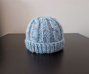 Birthday Cake Knit Baby Hat