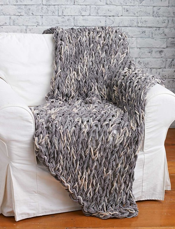 Just Like Magic Arm Knit Blanket