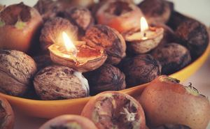 Sublime Autumn Tealights Centerpiece