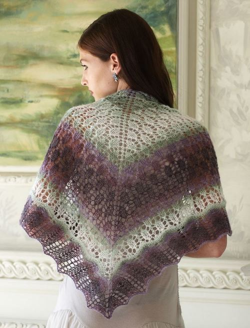Evening Shadows Shawl