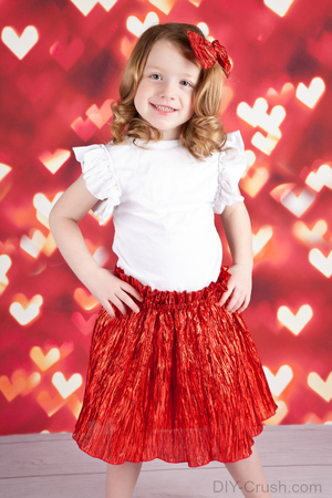 How to Make a Valentine DIY Skirt