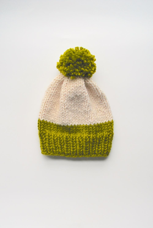 Knit Slouch Bag Pattern Free : Lime Slouchy Hat Pattern AllFreeKnitting.com